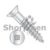 5-20X1  Square Drive Flat Head Full Body Wood Screw 2/3 Thread Zinc (Box Qty 6000)  BC-0516DQF