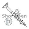 8-8X2  Square Drive Flat Head Nibs Deck Screw Type 17 2/3 Thread 18 8 Stainless Steel (Box Qty 2000)  BC-0832DQF17188
