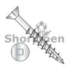 10-8X2 1/2  Square Drive Flat Head Nibs Deck Screw Type 17 2/3 Thread 18 8 Stainless Steel (Box Qty 1000)  BC-1040DQF17188