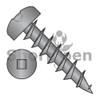 6-13X3/4  Square Drive Pan Deep Thread Wood Screw Full Thread Black Oxide (Box Qty 10000)  BC-0612DQPDB