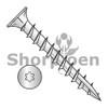 8-11X1  6 lobe Flat w/Nibs Deep Thread Wood Screw Type 17 Full Thread Zinc Bake (Box Qty 8000)  BC-0816DTF17D