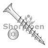 8-11X2 1/4  6 lobe Flat w/Nibs Deep Thread Wood Screw Type 17 2/3 Thread Zinc Bake (Box Qty 3500)  BC-0836DTF17D