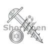 10-9X3 1/2  6 Lobe Round Washer Deep Thread Wood Install Screw Long Type17 2/3Thread Zinc Bake (Box Qty 1000)  BC-1056DTRW17L