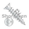 6-13X1  Square Phil Combo Drive Flat w/Nibs Deep Thread Wood Screw Full Threaded Type17 Zinc Bake (Box Qty 8000)  BC-0616DXF17D