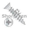 6X3/4  Square Phillips Drive Flat Head no Nibs Deep Thread Wood Screw Full Threaded Zinc Bake (Box Qty 12000)  BC-0612DXFD
