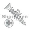 8X3/4  Square Phillips Drive Flat Head no Nibs Deep Thread Wood Screw Full Threaded Zinc Bake (Box Qty 11000)  BC-0812DXFD