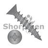 8X3/4  Square Phillips Drive Flat Head no Nibs Deep Thread Wood Screw Full Threaded Black Ox (Box Qty 11000)  BC-0812DXFDB
