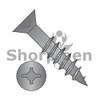 6-13X1 1/4  Square Phillips Drive Flat Head no Nibs Deep Thread Wood Screw 2/3 Threaded Black Ox (Box Qty 9000)  BC-0620DXFDB