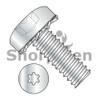 2-56X3/8  Six Lobe Pan Head External Tooth Sems Machine Screw Fully Threaded Zinc and Bake (Box Qty 10000)  BC-0206ETP