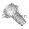 6-32X3/8  Slotted Indented Hex Washer Thread Cutting Screw Type F Fully Thread 18-8 Stain (Box Qty 5000)  BC-0606FSW188