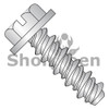 6-19X3/8 #5HD  Slotted Indented Hex Washer High Low Fully Threaded 18-8 Stainless Steel (Box Qty 5000)  BC-0606HSW188