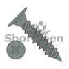 8-15X1 1/4  Phillips Wafer with Nibs High Low Screw Full Thread Sharp Point Ceramic Green (Box Qty 1000)  BC-0820HWAFSRC