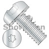 2-56X1/4  Six Lobe Pan Head Internal Tooth Sems Machine Screw Fully Threaded Zinc and Bake (Box Qty 5000)  BC-0204ITP