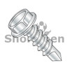 4-24X3/8  Unslotted Indented Hex washer Self Drill Screw Full Thread Zinc and Bake (Box Qty 10000)  BC-0406KW