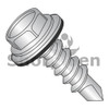 8-18X1  Unslotted Hex washer w/Bonded NEO EPDM Washer Self Drill Screw Full Threaded 18 8 Stainless (Box Qty 1000)  BC-0816KWN188