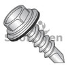8-18X1 1/2  Unslotted Hex washer Head w/Bond NEO EPDM 18-8Washer Self Drill Screw Full Threaded 410 Stainless (Box Qty 1000)  BC-0824KWN410