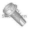 6-32X1/4  Slotted Indented Hex washer Thread Cutting Screw Type23 Fully Threaded 18-8 Stainless (Box Qty 5000)  BC-06043SW188