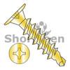 10-16X1  Square Phil Drive Wafer Head Full Thread Self Drill Screw Zinc Yellow Bake (Box Qty 2500)  BC-1016KWXFY