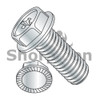 6-32X5/16  Phillips Hex Washer Serrated Machine Screw Full Thread Nickel (Box Qty 10000)  BC-0605MPWSNP