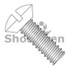 6-32X5/16  Slotted Oval Undercut Machine Screw Fully Threaded Zinc with White Painted Heads (Box Qty 10000)  BC-0605MSOUWH