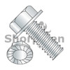 8-32X1/4  Unslotted Indented Hex Washer Head Serrated Machine Screw Full Thread Zinc (Box Qty 10000)  BC-0804MWS