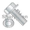 10-24X3/8  Unslotted Indented Hex Washer Head Serrated Machine Screw Full Thread Zinc (Box Qty 8000)  BC-1006MWS