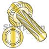 3/8-16X5/8  Serrated Hex Flanged Washer Full Threaded Grade 5 w/Head Markings Zinc Yellow (Box Qty 1000)  BC-3710MWW5Y