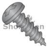 8-15X1  Phillips Pan Self Tap Screw Type A Full Thread 18 8 Stainless Steel Black Ox (Box Qty 4000)  BC-0816APP188B
