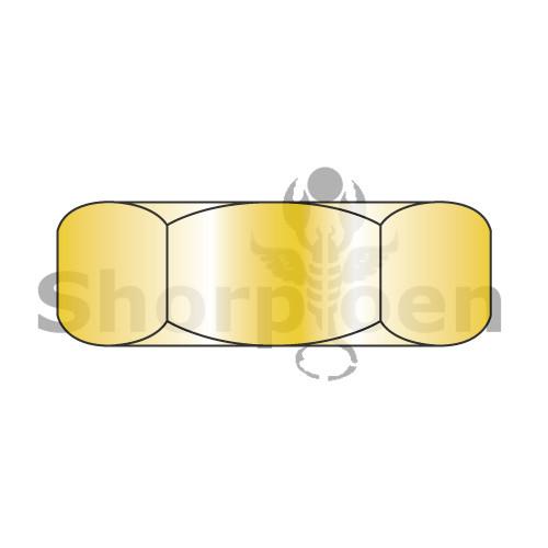 6-32X1/4X3/32  Small Pattern Hex Machine Screw Nut Zinc Yellow (Box Qty 10000)  BC-0604NHY