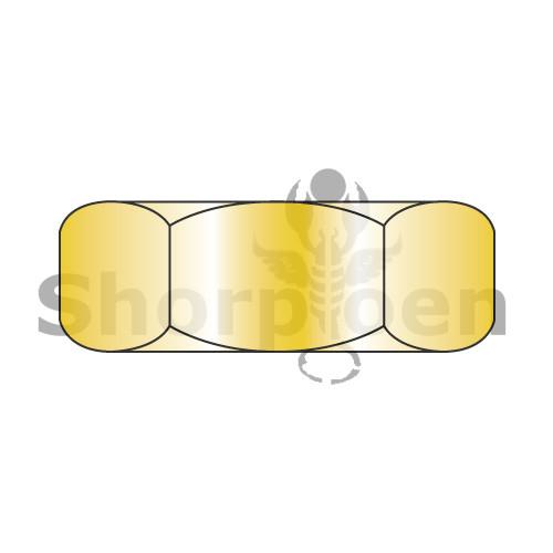 1/2-20  Hex Jam Nut Grade 8 Zinc Yellow (Box Qty 1200)  BC-51NJ8