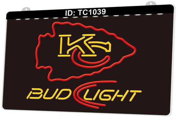 2 Color Custom Kansas City Chiefs LED Sign (A)