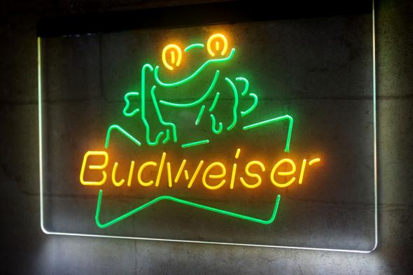 2 Color Custom Bud Frog LED Sign