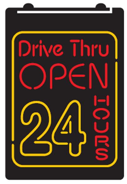 2 Color Drive Thru Open Custom LED Sign