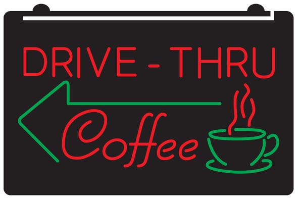 2 Color Drive Thru Coffee Custom LED Sign