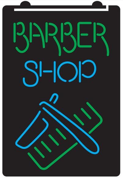 2 Color Barber Shop Custom LED Sign (A)