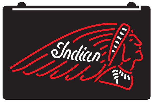 2 Color Indian Motorcycle LED Sign