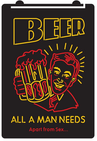 2 Color All A Man Need is Beer LED Sign