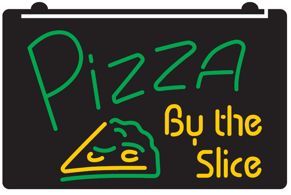 2 Color Pizza By The Slice LED Sign