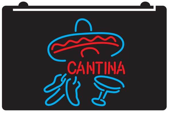 2 Color Cantina LED Sign