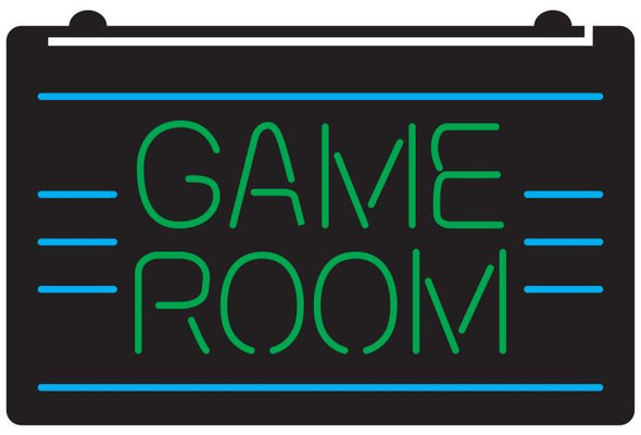 2 Color Game Room LED Sign (A)