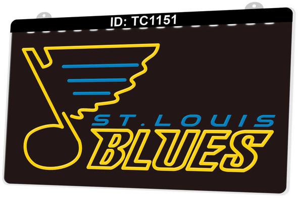 2 Color St. Louis Blues LED Sign