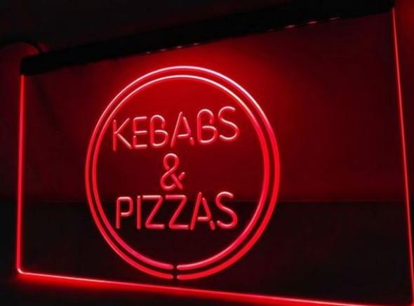 Kebabs & Pizza LED Sign