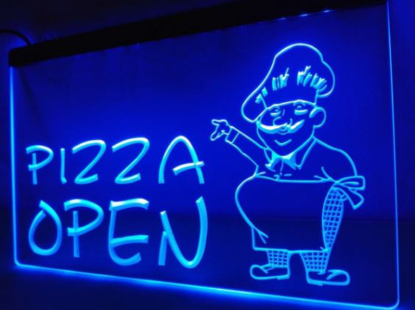 Pizza Open LED Sign (A)