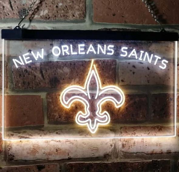 2 Color New Orleans Saints LED Sign