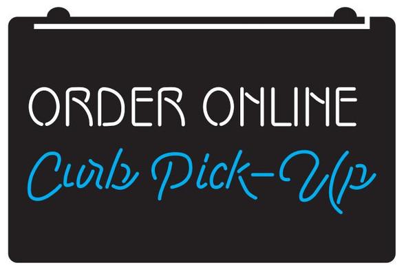 2 Color Order Online Curb Pick Up LED Sign