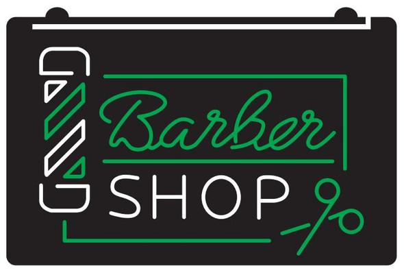 2 Color Barber Shop LED Sign (A)