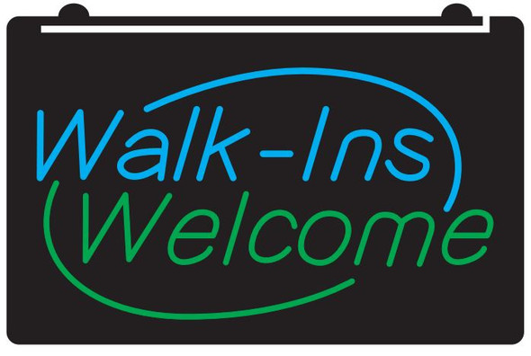 2 Color Walk-Ins Welcome LED Sign