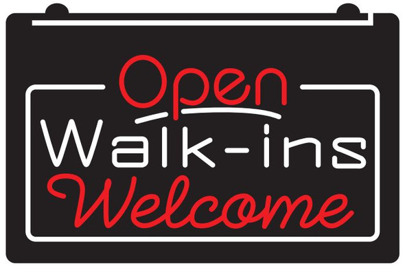 2 Color Open Walk- Ins Welcome LED Sign