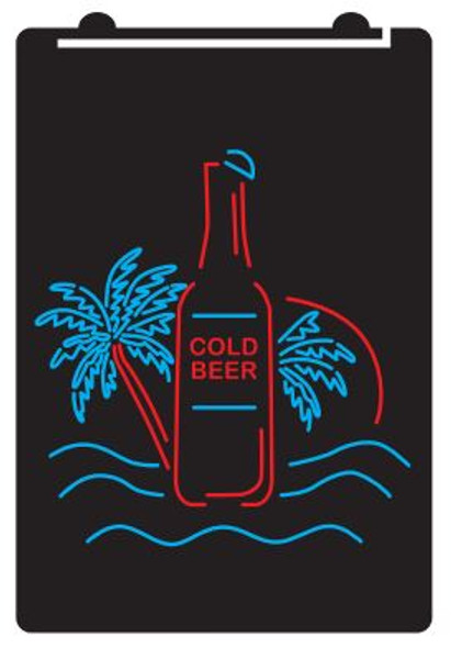 2 Color Tropical Cold Beer LED Sign