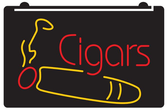 2 Color Cigars LED Sign (A)